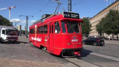 The SpåraKOFF pub tram in Helsinki, Finland. Stock Footage