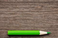 green pencil , place for tex - stock photo