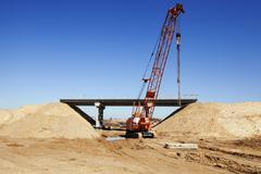 road construction.  bridge - stock photo