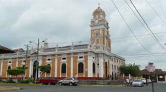 Iglesia de Xalteva in Granada, Nicaragua Stock Footage