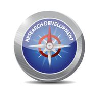 Stock Illustration of research development compass sign concept