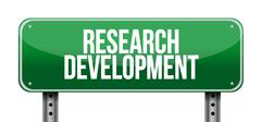 research development road sign concept - stock illustration