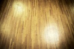 wooden dance floor - stock photo