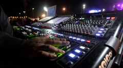 Audio Mixer   in a  live music show  Stock Footage
