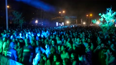 Crowd Audience in a music show - stock footage