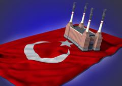 National heavy industry concept - Turkish theme Stock Illustration