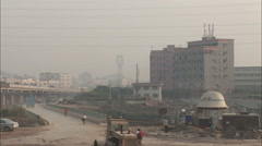 Factory, road & highway, trucks, China Stock Footage