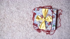 Christmas design - Merry Christmas. Xmas wreath card with copyspace Stock Footage