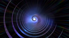 Psychedelic hypnotic spiral blue abstract background Stock Footage