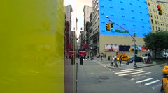 Timelapse traffic of Manhattan seen from the tourist bus Stock Footage