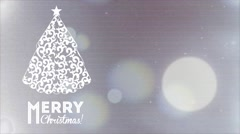 Merry Christmas, video animation Stock Footage