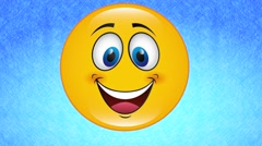 Happy face, video animation Stock Footage