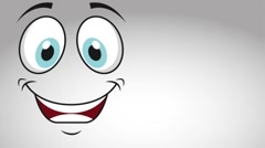 Happy face deign, video animation Stock Footage