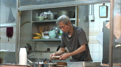 Chinese street food stall, Hong Kong Stock Footage