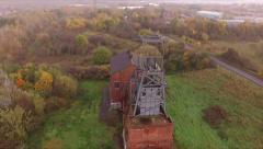 Aerial fly over coal mining shaft DJI PHANTOM  Stock Footage