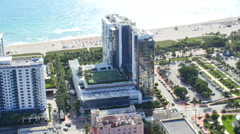 Aerial video Miami Beach 25th Street Stock Footage