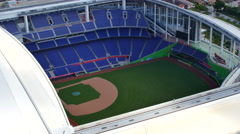 Aerial video Marlins Park Stock Footage