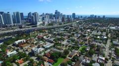 Aerial video Little Havana Miami 2 Stock Footage