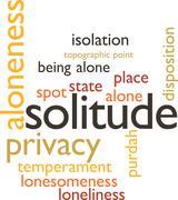 solitude - stock illustration