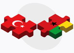 Stock Illustration of Turkey and Guinea-Bissau Flags