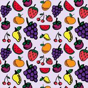 Stock Illustration of Fruits seamless pattern for your design