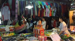 City market place interrior in Nha Trang city in Vietnam Stock Footage