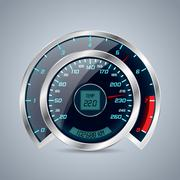 Shiny speedometer with big rev counter Stock Illustration