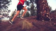 Stock Video Footage of Fitness Running Young Man jogging In Forest – Runner Athlete