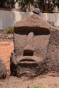 Classic Moai Mask Stock Photos