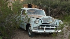 Eldorado Canyon mine tours. Old rusty car Stock Footage