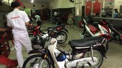 The Honda service in Vung Tau city in Vietnam Stock Footage