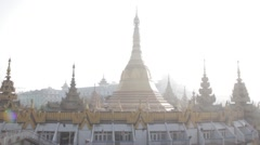 Sule Pagoda on Misty Day (Yangon/Burma) Stock Footage