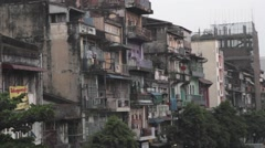 Asian Decrepit, Decaying Buildings and Apartments (Yangon/Burma) - stock footage