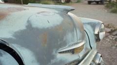 Eldorado Canyon mine tours. Old rusty car Stock Footage