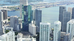 Brickell City Center aerial video Stock Footage