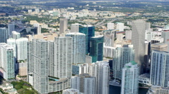 Brickell and Downtown aerial video Stock Footage