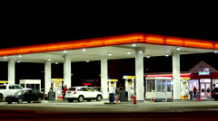 One side of Petro Canada gas station. Stock Footage
