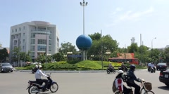 The Nha Trang city downtown in Vietnam Stock Footage