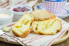 Homemade crunchy buttery popovers - stock photo