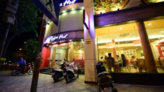 The Pizza Hut in Nha Trang in Vietnam Stock Footage