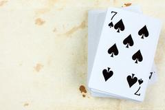 Seven of spades playing card Stock Photos