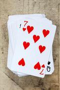 Seven of hearts Stock Photos