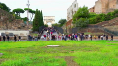 At The Colosseum Gate Stock Footage