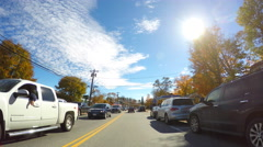 Conway New Hampshire 4 - stock footage