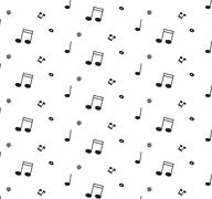 Abstract music pattern background vector illustration for your design - stock illustration