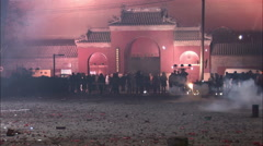 Chinese crowd, celebrating, New Year - stock footage
