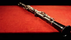 Stock Video Footage of clarinet. motion panorama