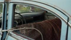 Eldorado Canyon mine tours. Old retro car inside Stock Footage