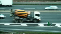 Traffic drives Stock Footage