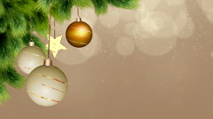 Christmas baubles - stock footage